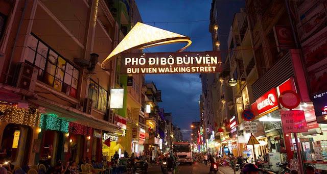 Bui Vien walking street.