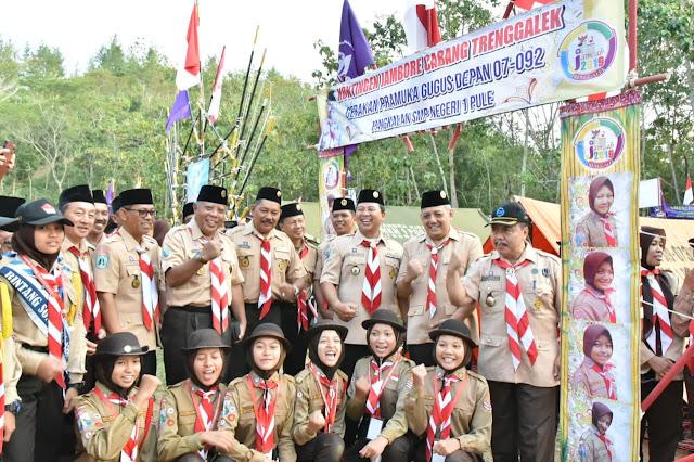 Buka Jambore Cabang Pramuka, Sekda Trenggalek Ajak Peserta Mencintai Alam