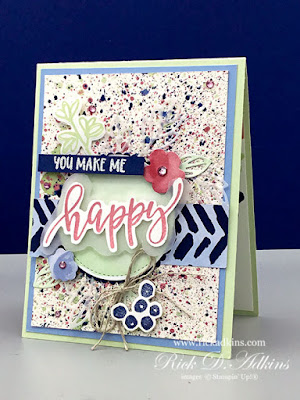 You make me Happy!  This is a fun little card using the Pretty Perennials Bundle from Stampin' Up!.  Click to learn more.