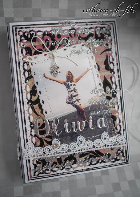7gypsies - flocked paper JAI, Ewa Jarlińska, rękodzieło, Evik, Evikowe ch-file, kartka książka, kartka na urodziny