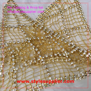 semi-finished rhinestone bra