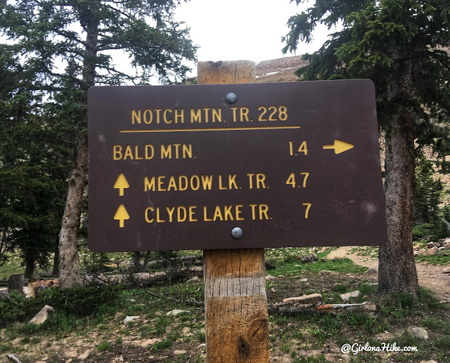 Hiking to Bald Mountain, Uintas