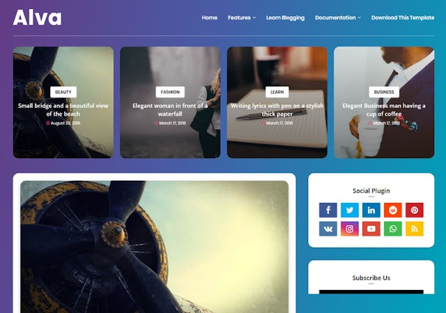 10 Best html5 blog template free Download Full Version 2021