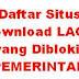 Daftar Situs Lagu Yang Diblokir Pemerintah