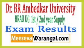 Dr. BR Ambedkar University UG 1st / 2nd year Supply Exam results 2017