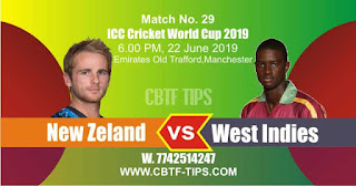 Who will win World Cup 2019 29th Match New Zeland vs West Indies Today Match Prediction Toss Session Lambi pari Fancy Astrology 100% Fixed Report