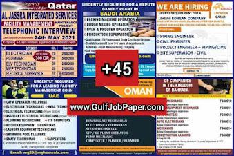 Gulf Overseas Jobs~22 May