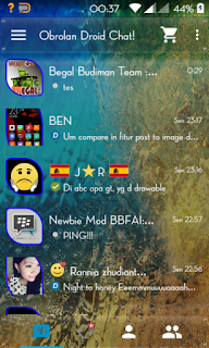 BBM MOD Droid Chat! v5.7.28 Transparent Theme, Based BBM Backup Sticker RR v2.9.0.49