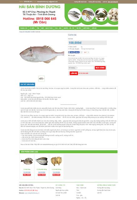 Thiết kế website bán hản sản