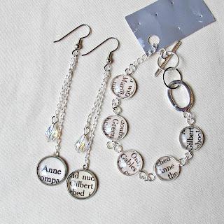 image anne of green gables jewellery set earrings bracelet jewellery jewelry handmade two cheeky monkeys swarovski crystal silver dangle earrings drop