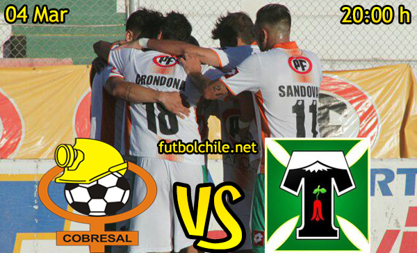 Ver stream hd youtube facebook movil android ios iphone table ipad windows mac linux resultado en vivo, online: Cobresal vs Deportes Temuco
