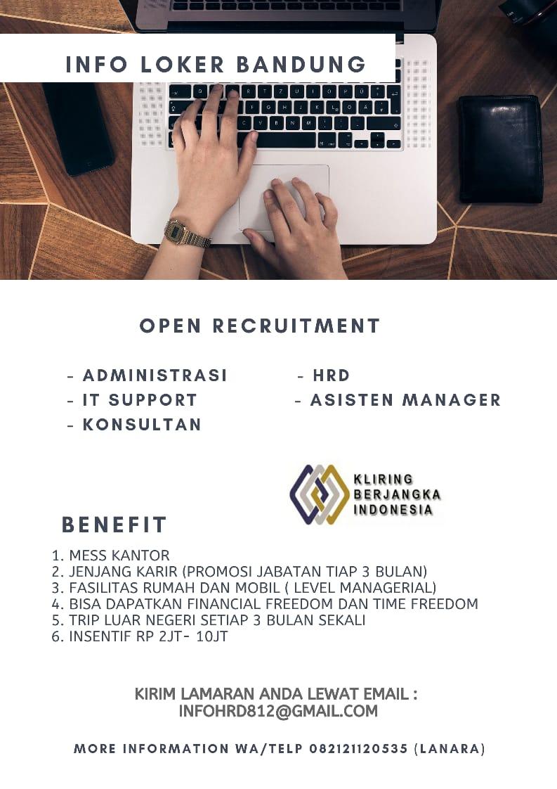 Lowongan Kerja PT. KP Indonesia Bandung September 2020