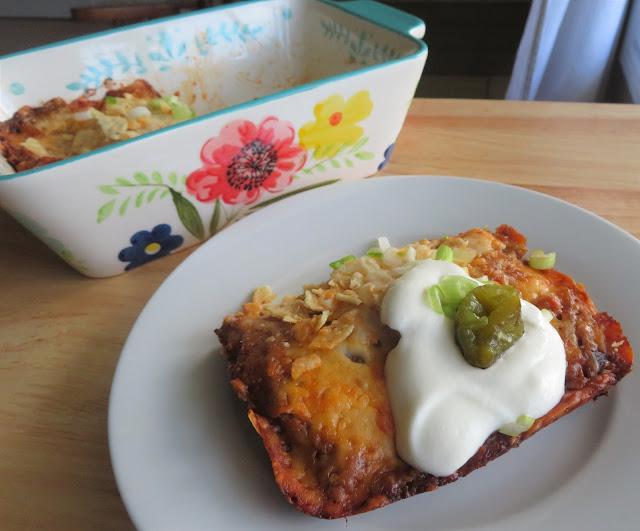 Tortilla Chip Enchiladas