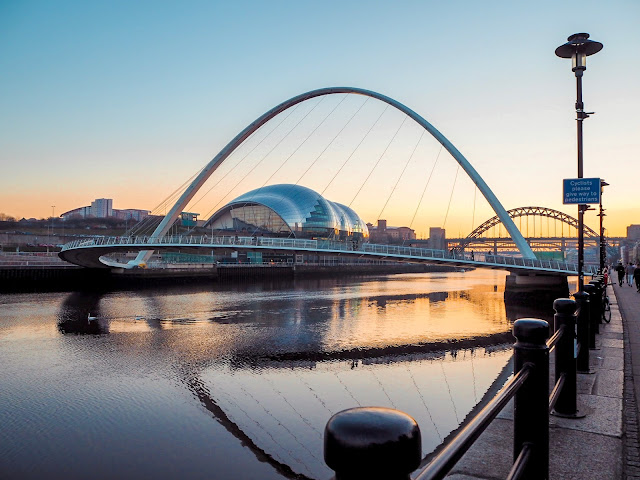 Things to do on Newcastle Quayside- Millennium Bridge