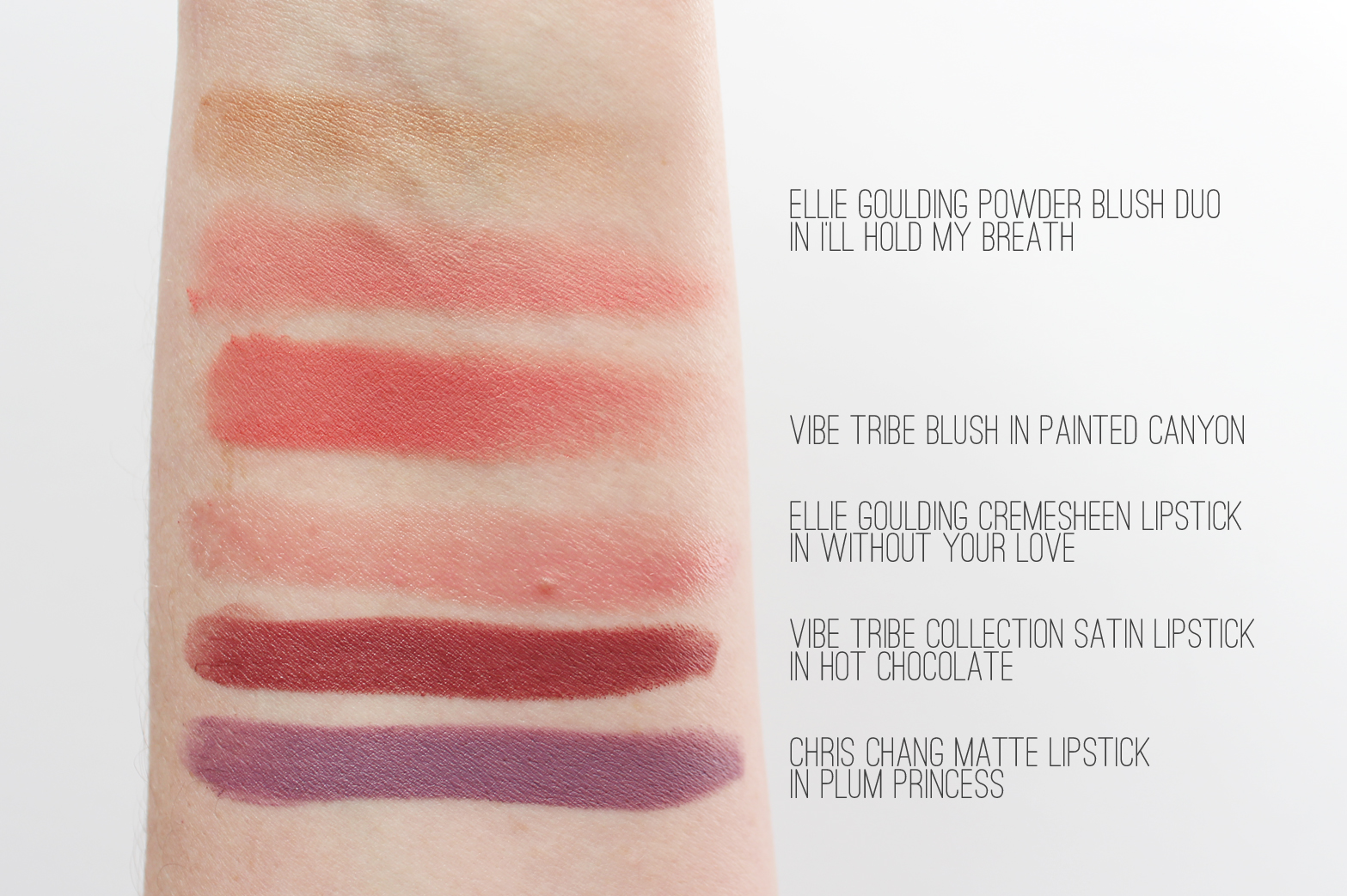 M.A.C. | Haul - Vibe Tribe, Ellie Goulding + Chris Chang Collection - Swatches - CassandraMyee