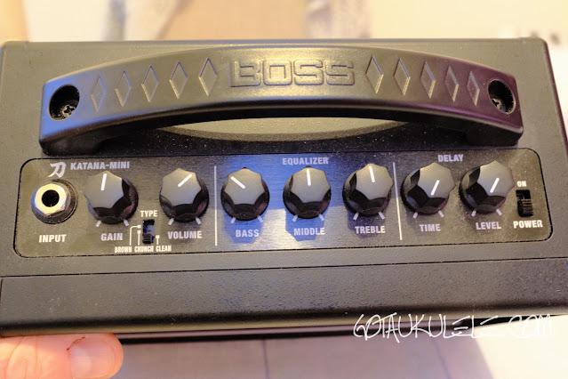 Boss Katana Mini Ukulele Amplifier controls