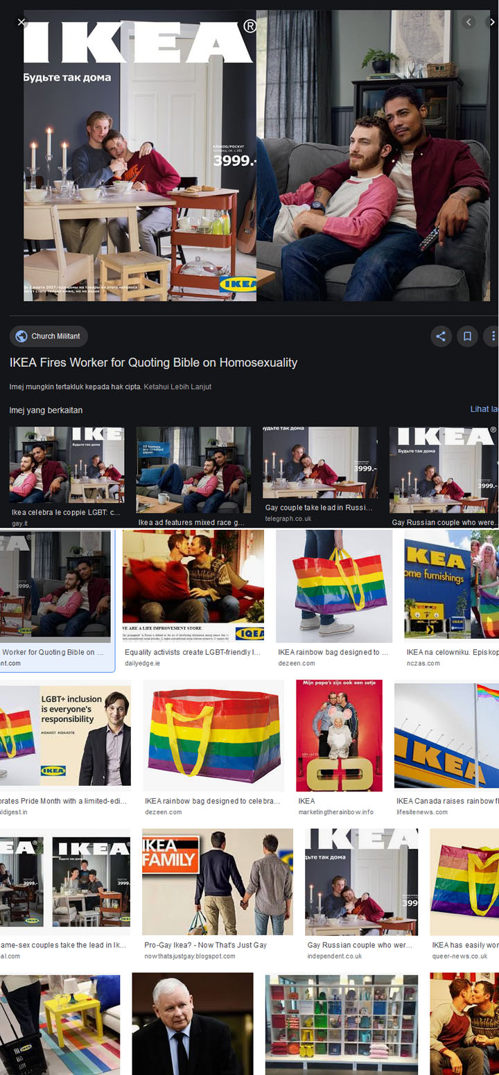 Kontroversi IKEA Menyokong LGBT