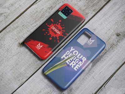 Mockup Custom Case 3D Realme 8 dan 8 5G