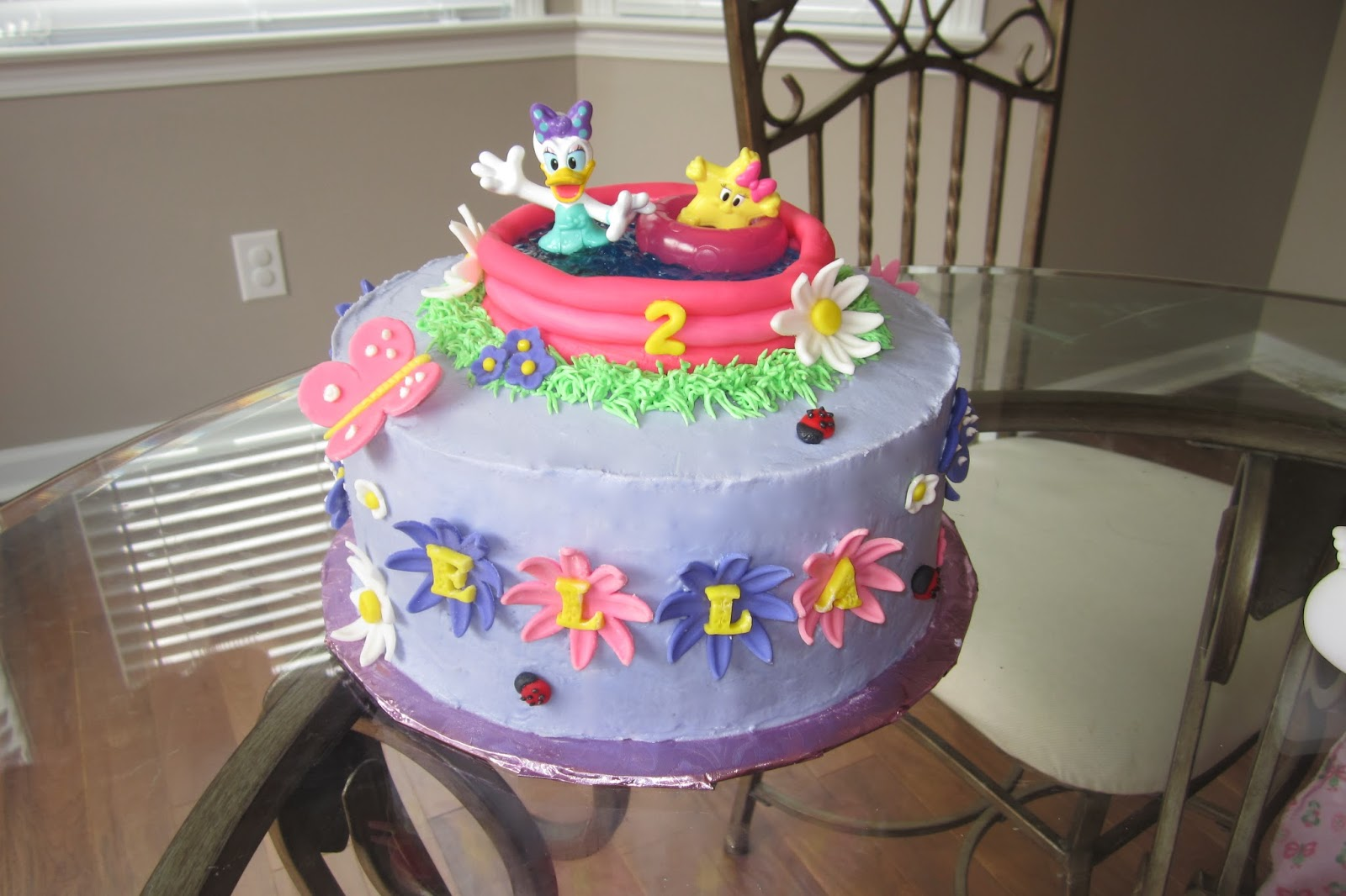 Cakes Amp Creations By Angela Daisy Duck Pool Party Cake
