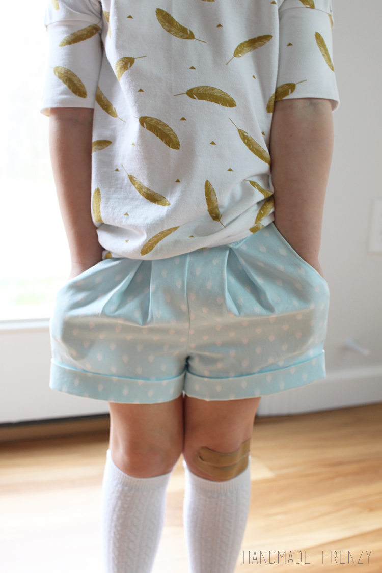 Skipper Top & Clover Shorts // Sewing For Girls