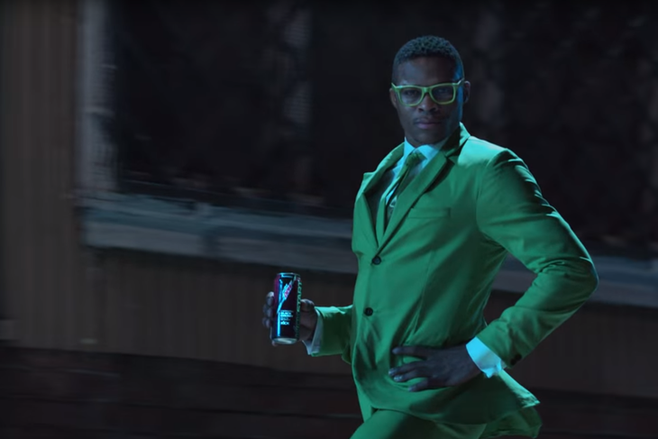 Russell Westbrook is the Powerstance Dude in Mountain Dew's Kickstart Commercial