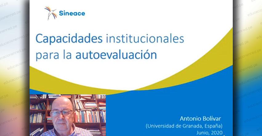 ANTONIO BOLÍVAR: Estas son las tres capacidades institucionales para la autoevaluación