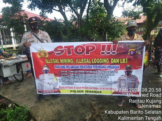 Aiptu Sri Mulyadi Sosialisasikan Pencegahan Ilegal Mining dan Penyalahgunaan Bahan Merkuri