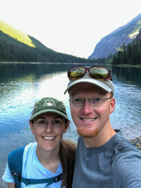 Hiking Avalanche Lake selfie