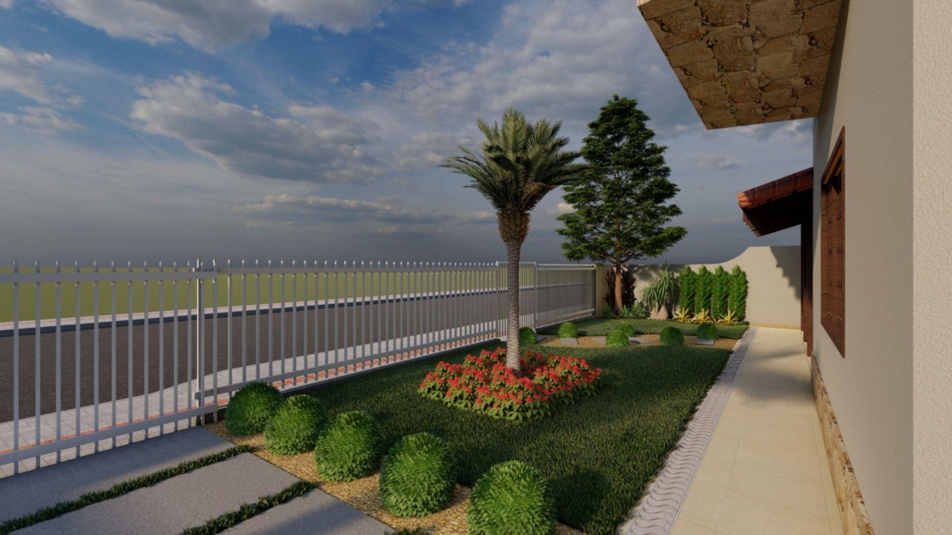 Harmonioso Jardim - Antes depois Frente e Lateral Casa [Veja Agora]
