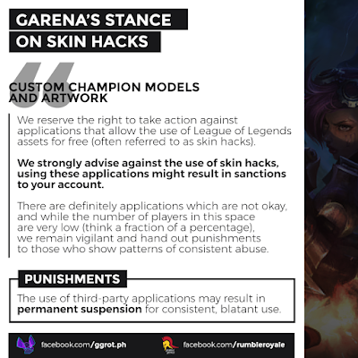 Mod Skin LoL and Third Party Apps Users Will Be Punished by Garena Games : Mod Skin LoL and Third Party Apps Users Will Be Punished by Garena