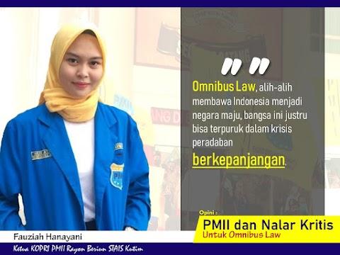 PMII dan Nalar Kritis Untuk Omnibus Law