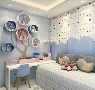 Desain kamar anak perempuan sederhana