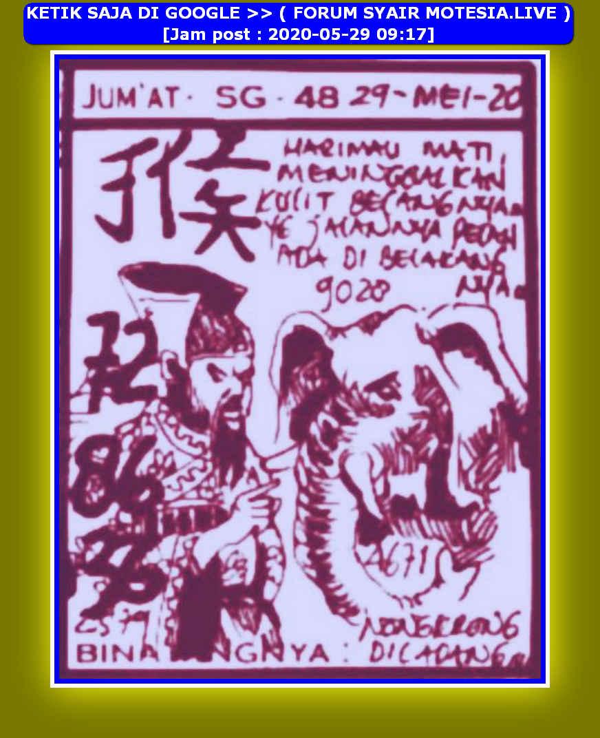 Kode syair Hongkong Jumat 29 Mei 2020 22