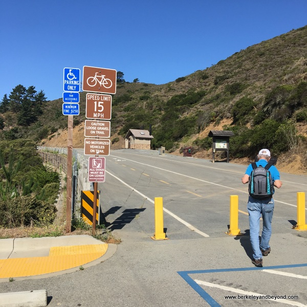 signs at north end of Devil's Slide Trail in Pacifica, California