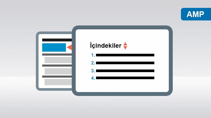Blogger AMP HTML Uyumlu İçindekiler Tablosu Oluşturma