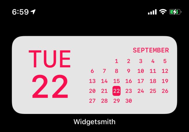 Widgetsmith تاريخ القطعة