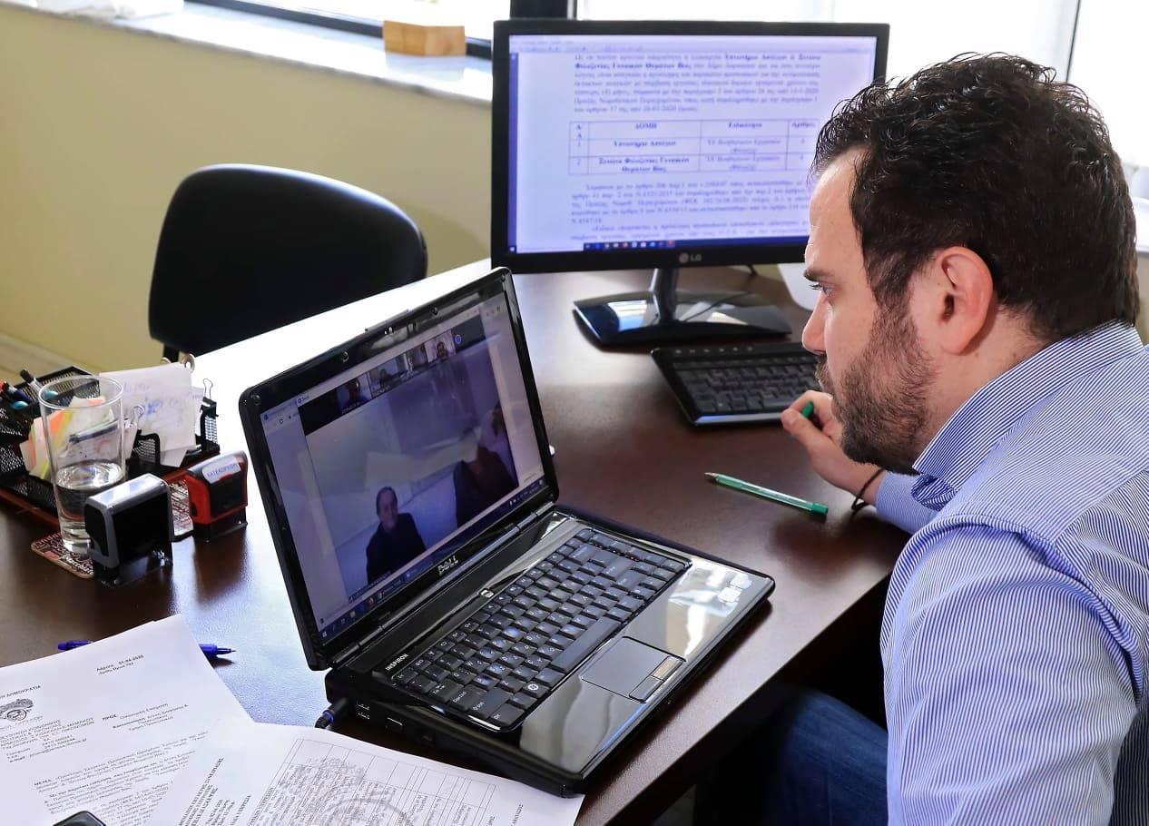 Συνεδρίασε με τηλεδιάσκεψη η Οικονομική Επιτροπή του Δήμου Λαρισαίων