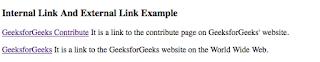 penggunaan internal link pada html untuk menuju ke laman web lain