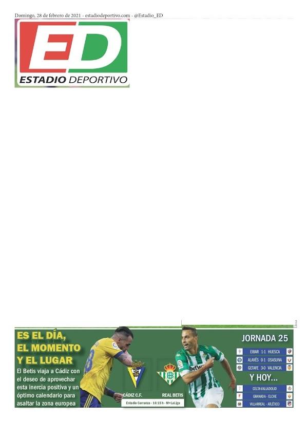 """Betis, Estadio Deportivo: """"Es el día, el momento y el lugar"""""""