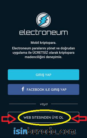 Electroneum Mobil Madencilik Hesabı Oluşturma