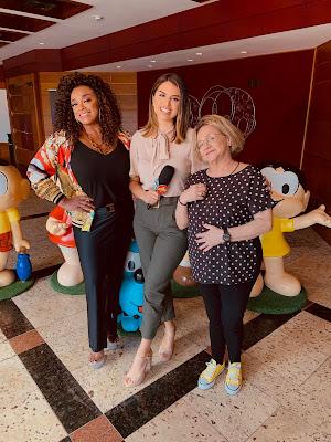 """Apresentadora no bastidores do espetáculo """"Brasilis – um circo da Turma da Mônica com Paula Lima e Fafy Siqueira (Foto: Divulgação/SBT)"""