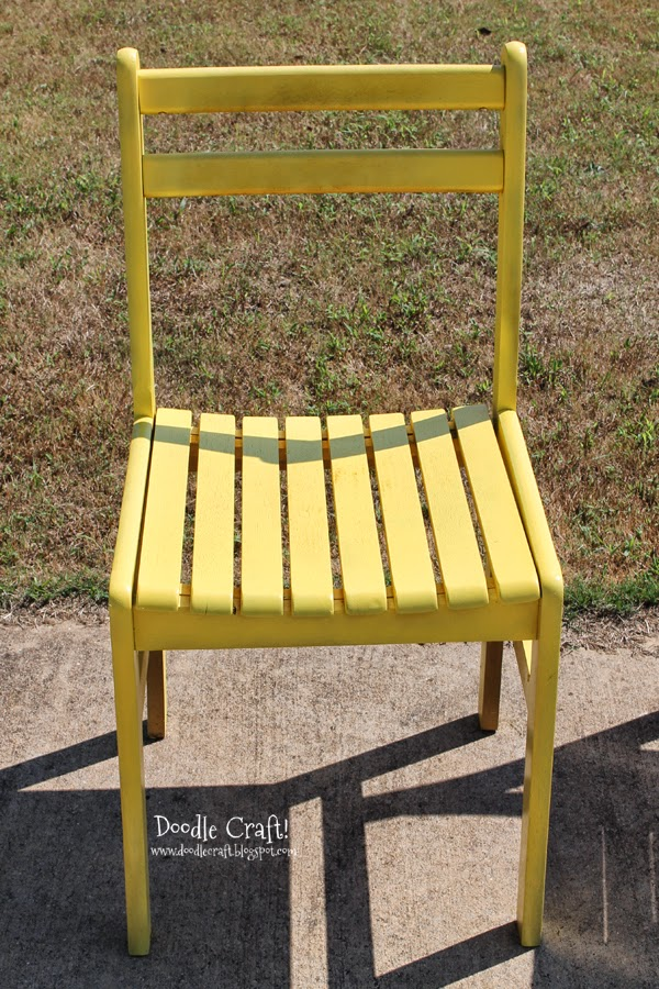 Doodlecraft: Colorful Wooden Chairs Redone!