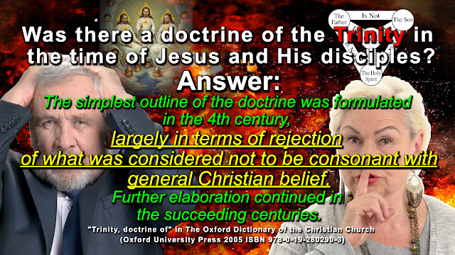 The simplest outline of the doctrine was formulated in the 4th century, largely in terms of** rejection** of what was considered** not to be consonant with general Christian belief.