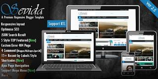 Sevida V2.5 – Responsive Magazine Blogger Template Free Download