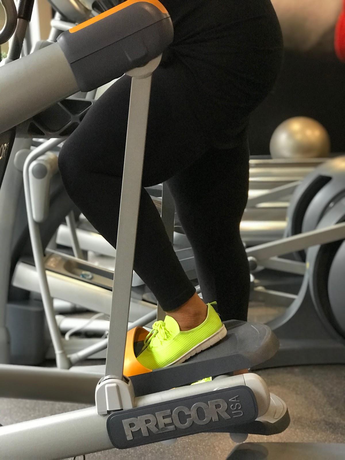 My Morning Exercise: elliptical machine. #beingfortysomething