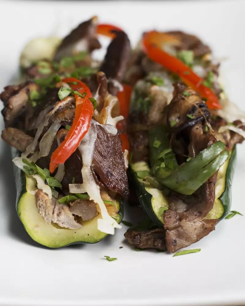 #Steak #and #Veggie #Zucchini #Boats