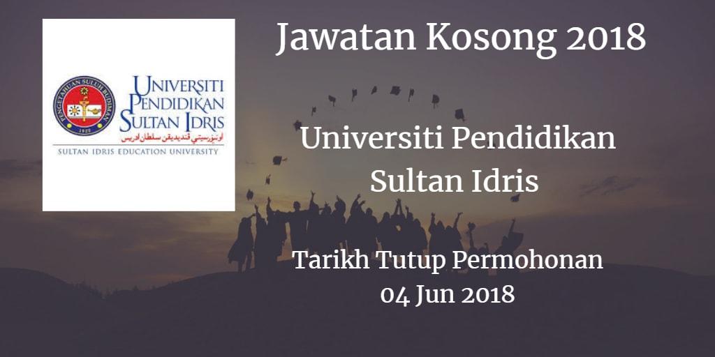 Jawatan Kosong UPSI 04 Jun 2018