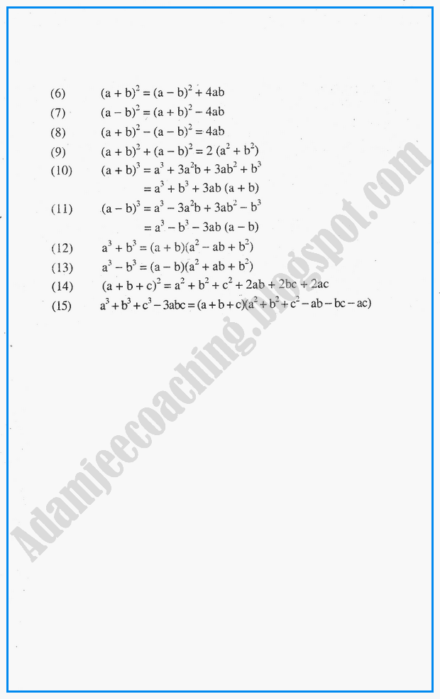 algebraic-expressions-definitions-and-formulae-mathematics-notes-for-class-10th