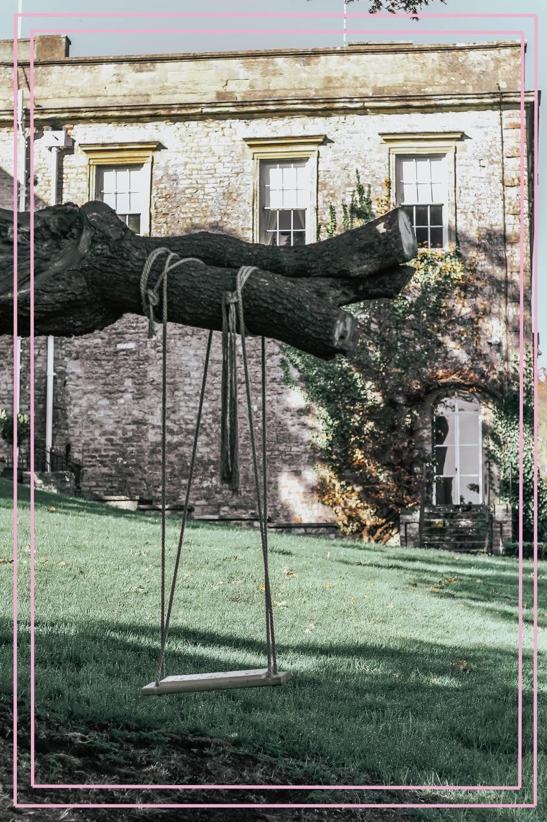 Ston Easton Park Hotel Outdoor Wedding Swing