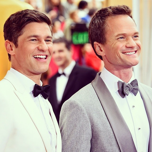 Neil Patrick Harris e David Burtka no Oscars 2015
